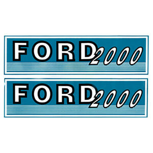 F500 New Tractor Hood Decal Fits Ford Fits New Holland Tractor 2000
