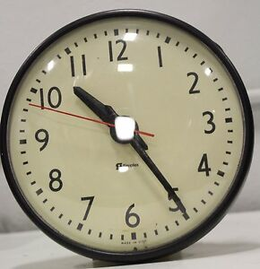 Vintage Simplex 804 100 A 9 Commercial School Electric Round Wall Clock
