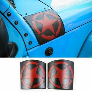 2x Cowl Body Armor Cover Accessories Parts For Jeep Wrangler Jk Jku 2007 17 Red