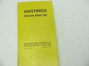 Hastings 2c5619 Engine Piston Ring Set std For 80 84 Buick Olds Cadillac 4 1l