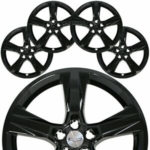 4 Black Fit 2016 18 Chevrolet Camaro Ss 20 Wheel Skins Hub Caps Full Rim Covers