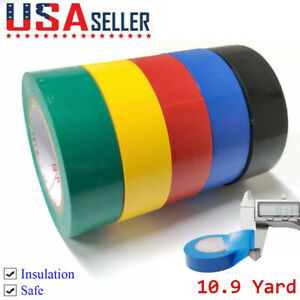 5 Rolls 32ft Pvc Electrical Wiring Tape 0 7 Wide Connection Insulation Tape