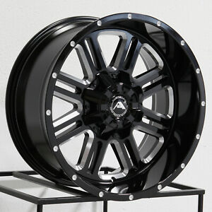 One 20x10 American Off road A106 6x5 5 6x139 7 24 Black Milled Wheels Rims