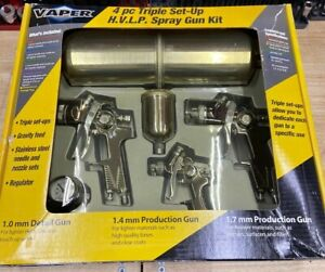 Titan Vaper 4pc Triple Set Up Hvlp Paint Spray Gun Set