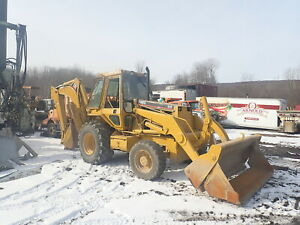 1990 Cat 446 Loader Backhoe 4x4 Clean Erops Aux Hyd 4 in 1 Bkt Caterpillar