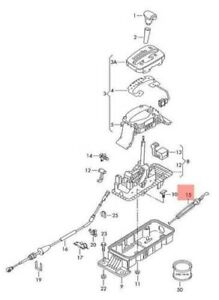 Genuine New Locking Cable Vw Audi Beetle Cabrio Cabriolet Bettle New 8l1713303