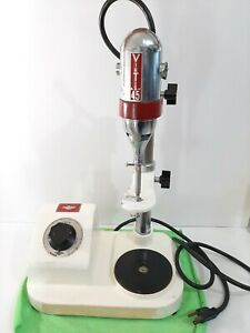 Virtis 45 Tissue Homogenizer With Blade Attachment Stainless Steel Mixing Bowl