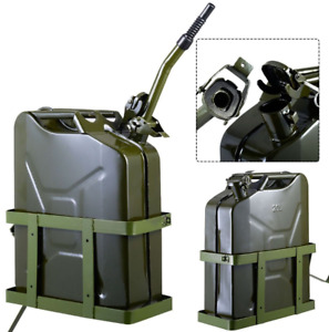 5 Gallon Gas Can Metal Container Jerry Fuel Tank Holder 20l Military Green Car