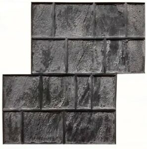 Concrete Texture Rubber Stamps Decorative Mat For Printing On Concrete Cement