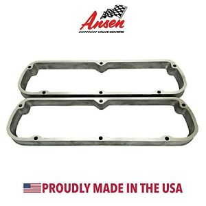 Ford 289 302 351w Valve Cover Spacers As Cast Die cast Aluminum Ansen Usa