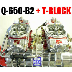 Quick Fuel Q 650 b2 650 Cfm Gas Blower Supercharger Carbs T block Fuel Line