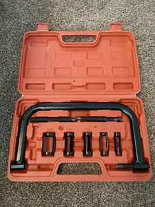 Solid 5 Collars Valve Spring Compressor Removal Tool Kit Auto Dirt Bike Motorcyc