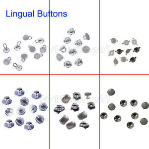 8 Model Dental Orthodontic Lingual Buttons Bondable Round Mesh Base