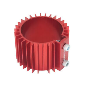 Heat Sink Cover Universal Red Billet Aluminum L 66mm Engine Oil Filter Cooler