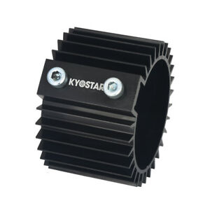 Universal L 66mm Engine Heat Sink Cover Black Billet Aluminum Oil Filter Cooler