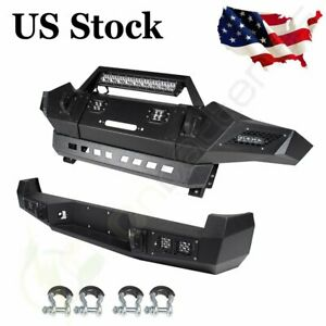 Front rear Bumper For Toyota Tacoma 05 15 Black Complete Assembly Steel Guard