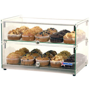 Omcan 44373 Countertop Food Display Case W square Front Glass 22 w