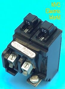 New Circuit Breaker Pushmatic P1520 15 20 Amp Two 1 Pole Twin Tandem