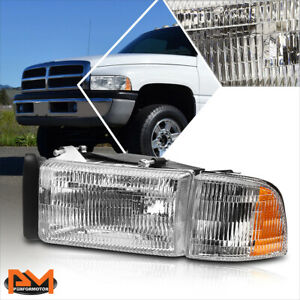 For 94 02 Dodge Ram 1500 3500 Oe Replacement Chrome Housing Headlight lamp Left