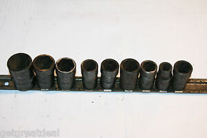 Blue point Tools 3 8 Drive Impact Shallow Twist Inches mm Socket Set 9pc
