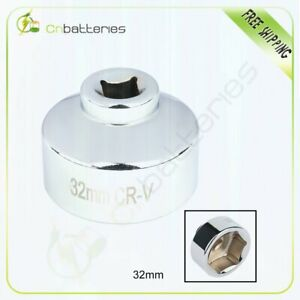 32mm Metric Low Profile Oil Filter Socket Wrench To Remove Canister Housing