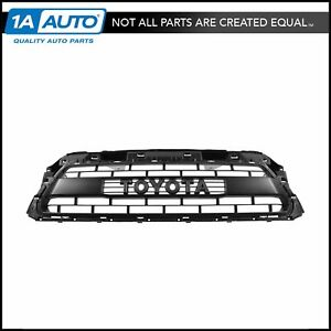 Oem Painted Matte Flat Black Trd Pro Grille With Emblem For Toyota Pickup Truck
