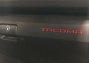 Bdtrims Red Plastic Letters For Toyota Tacoma 2016 2020 Glove Box Inserts