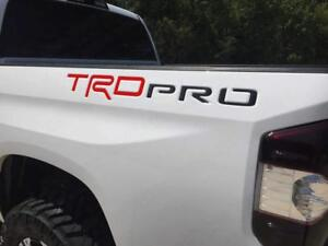 Red Black Trd Pro Raised Plastic Letters Inserts For Toyota Tundra 2014 2020