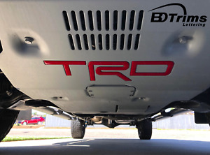 Red Domed 3d Letters Fits Trd Skid Plate Tacoma 2016 2020 4runner 2019 2020