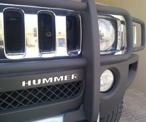 Bdtrims Chrome Front Bumper Letters For Hummer H3 Abs Plastic Inserts