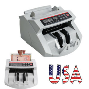 Automatic Money Cash Counting Digital Bill Counter Counterfeit Detector Machine