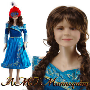 Female Mannequin metal Stand Full Body Rotated Head Arms Child Girl Cb2 1wig
