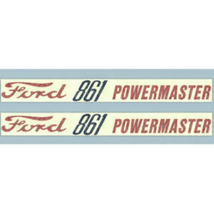 F861 New Tractor Hood Decal Fits Ford Fits New Holland Tractor 861