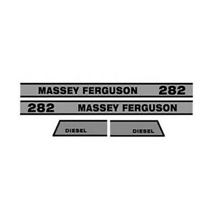 M611h Hood Decal For Massey Ferguson Tractor Model 282 Diesel