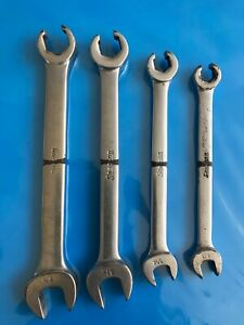 Snap On 4 Piece Combination Flare Nut Line Wrench Set Sae