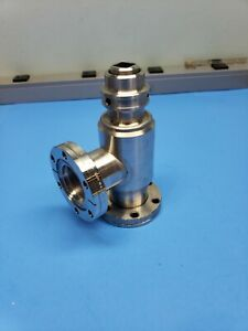 Varian Uhv 951 5027 All metal Manual Right angle Valve bakeable To 450 C