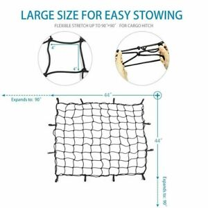 Cargo Nets Bungee Cord Grid Mesh Roof Tie down Hooks For Jeep Ford Suv Truck
