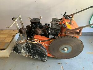 Norton Clipper Walk Behind Concrete Saw Self Propelled 20hp See Video