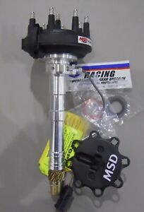 Msd 23401msd Chevy Crank Trigger Distributor With Adjustable Cam Sync Pick Up