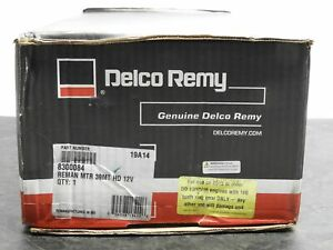 Genuine Delco Remy 8300084 Starter Motor 39mt Hd 12v Sae 3 12 Tooth Cw Rotation