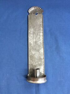 Antique Tin Candle Wall Sconce 13 5 8 Tall