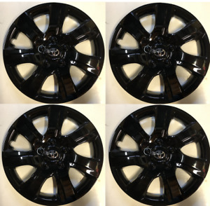 4 X Full Set 16 Hubcaps Gloss Black Fits Toyota Camry 2010 2011 Wheel Cover