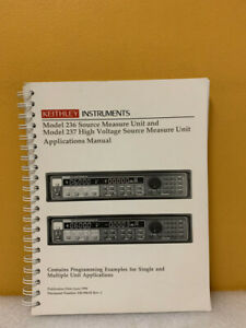 Keithley 236 904 01 Model 236 237 High Voltage Source Measure Unit App Manual