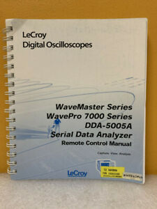 Lecroy Wavemaster Wavepro 7000 Dda 5005a Data Analyzer Remote Control Manual