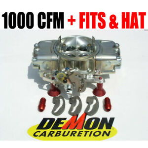 Race Demon 2563010tm 1000 Cfm 0val Track Master Gas Barry Grant With Demon Hat