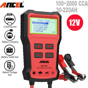 12v Automotive Car Battery Tester 220ah Charging Cranking Test Analyzer 2000cca