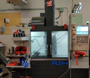 Haas Vf 2ss 12000 Rpm 24 Atc Tsc 300 Psi Probes Auger And Rotary Table