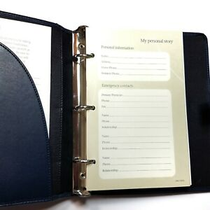 Personal Patient Record Planner 3 Ring Binder Organizer Caregiver Log Book