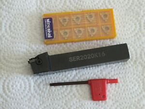 Ser2020 Tool Holder 10 Mitsubishi Carbide Threading Inserts Mmt 16er Ag60 Us735