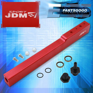 For 02 06 Acura Rsx Dc5 05 Civic Ep3 Aluminum High Flow Fuel Injector Rail Red